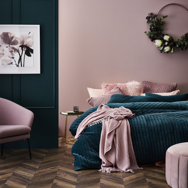 Pin On Home Therapy, What Color Goes With Blush Bedding