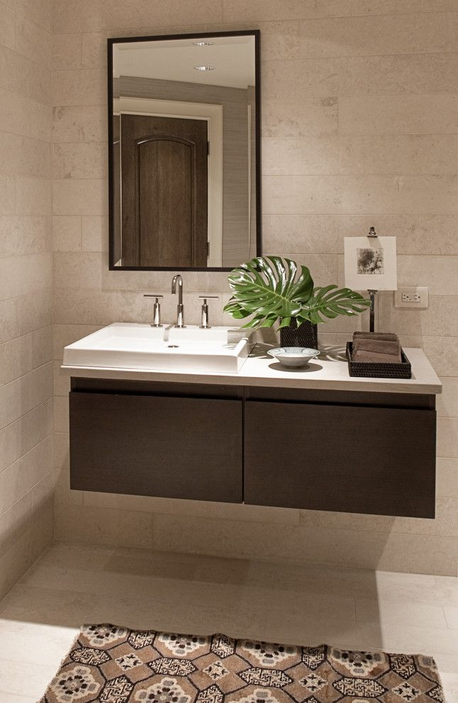 Cool kohler purist in Bathroom Contemporary with Floating Sink next ...