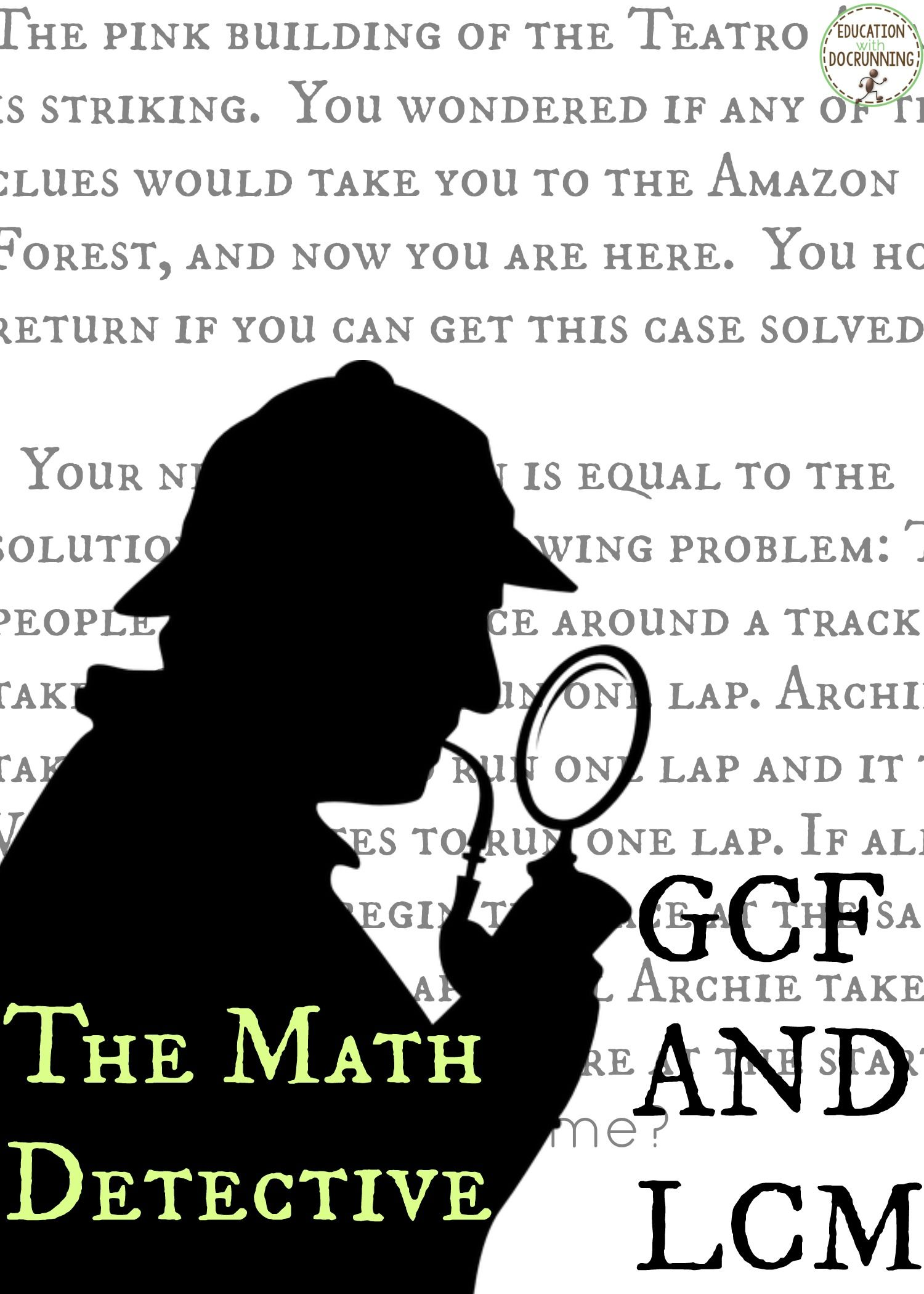 Greatest Common Factor And Least Common Multiple Math Detective Activity