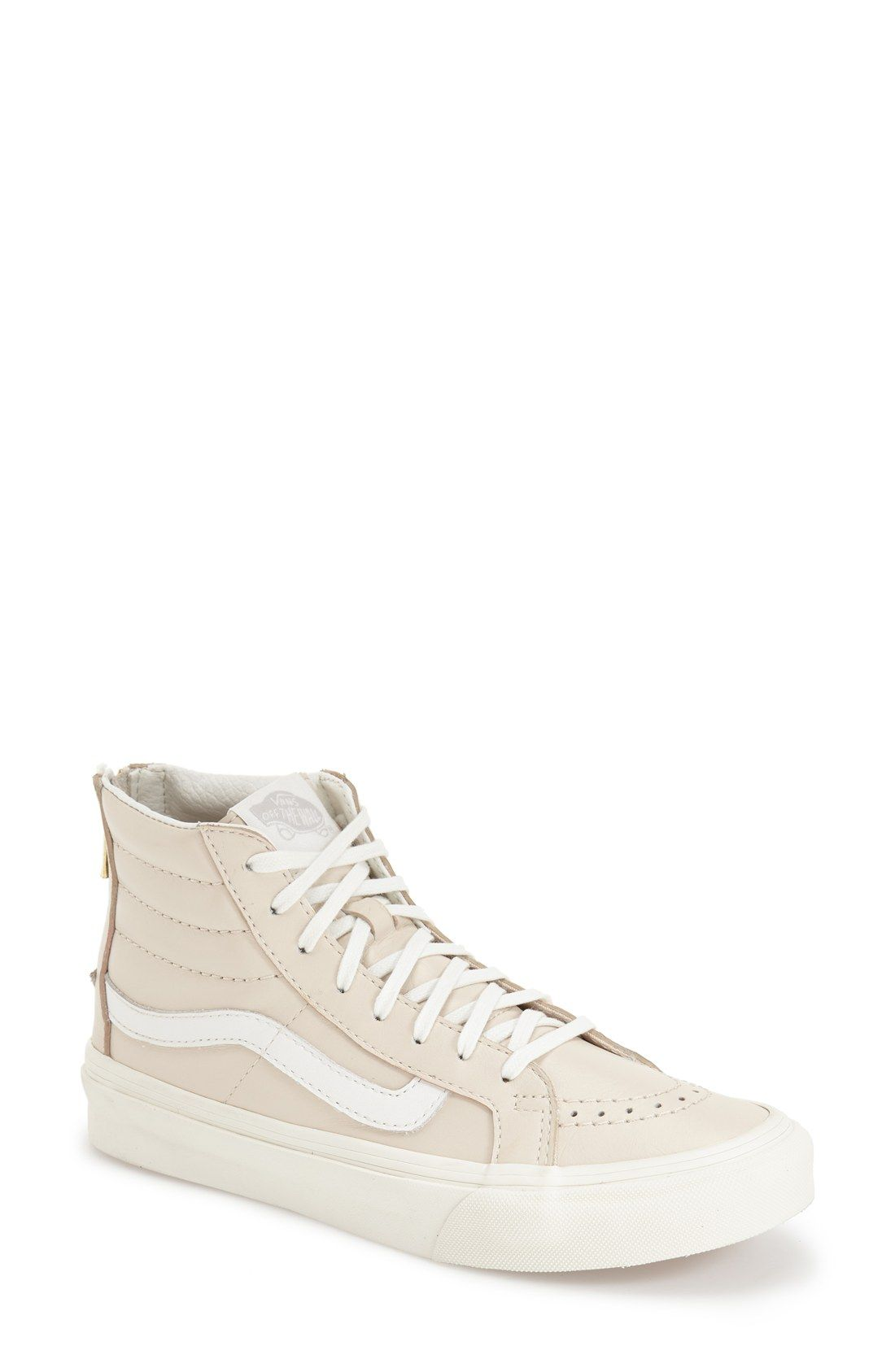 new concept 18e7b e5649 Vans 'Sk8-Hi Slim' High Top Sneaker (Women) Beige- 9.5 | My ...