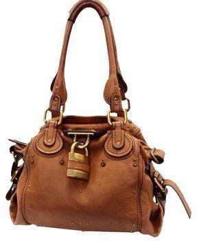 f333b1a8333 Chloé Paddington Paris Gold Lock Honey Tan Hand - Brown Leather ...