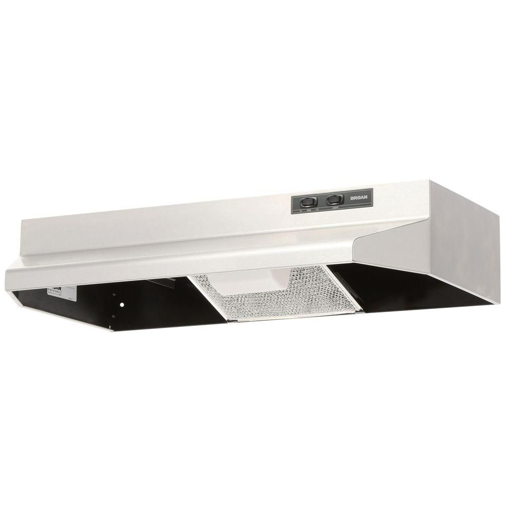 Broan Nutone 40000 Series 30 In Under Cabinet Range Hood With Light In White 403001 The Home Depot Broan Range Hood Under Cabinet Range Hoods
