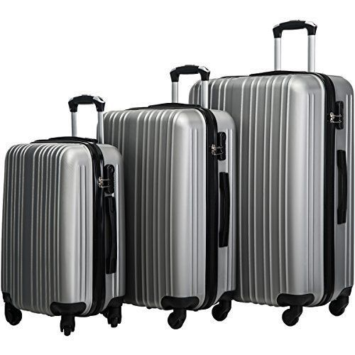 555e1a428d98 Luggage Set Lightweight Spinner Suitcase 3 Piece Travel Family ...