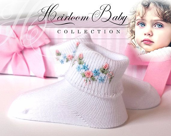 Organic baby socks gift set organic cotton hand embroidery organic baby socks gift set organic cotton hand embroidery bullion rose infant booties newborn easter baby gifts baby dress sock negle Choice Image