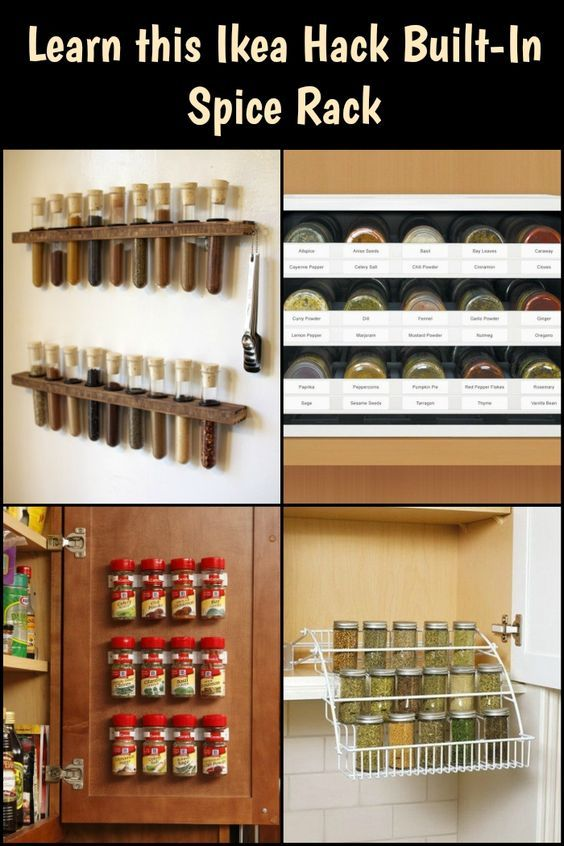 Ikea hack - a built-in spice rack! | Spice rack, Ikea hack ...