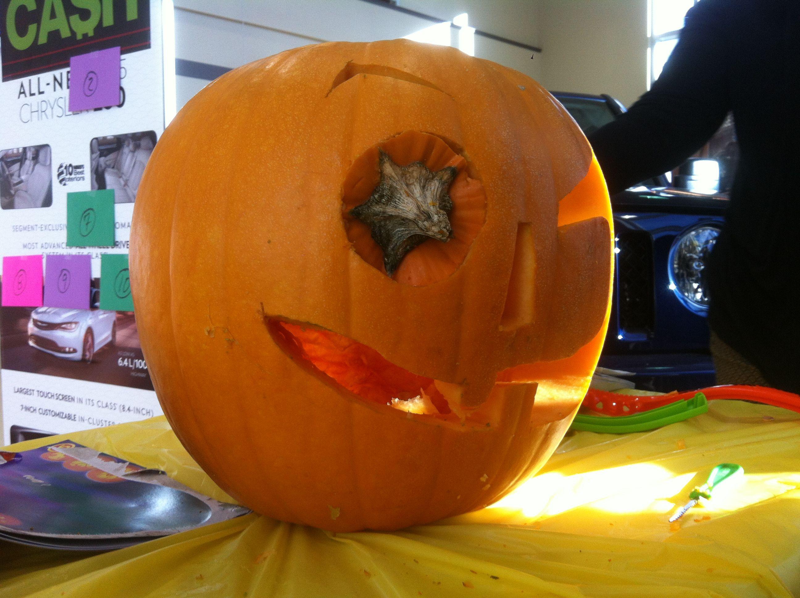 evil pumpkin cold lake chrysler pumpkin carving contest we love