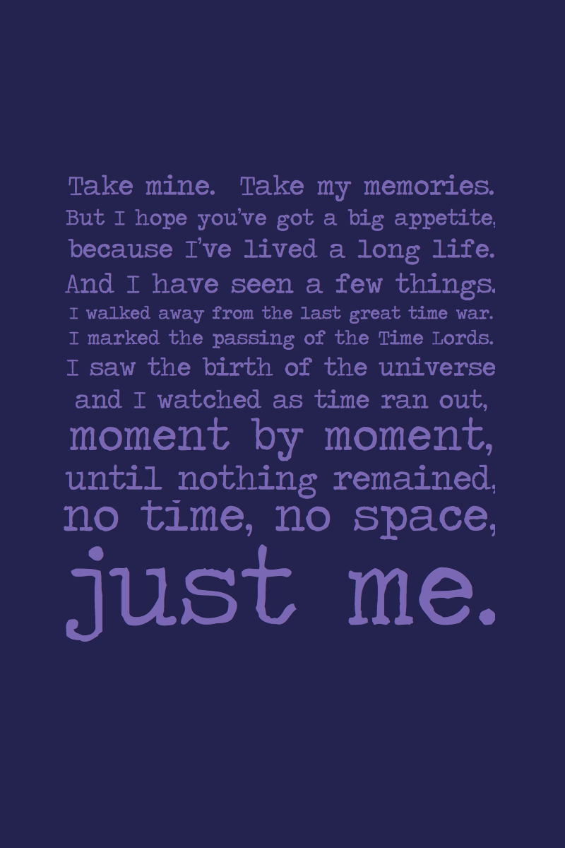 Spoiler Just Me By Inkandstardust On Deviantart Doctor Who Quotes 11th Doctor Doctor