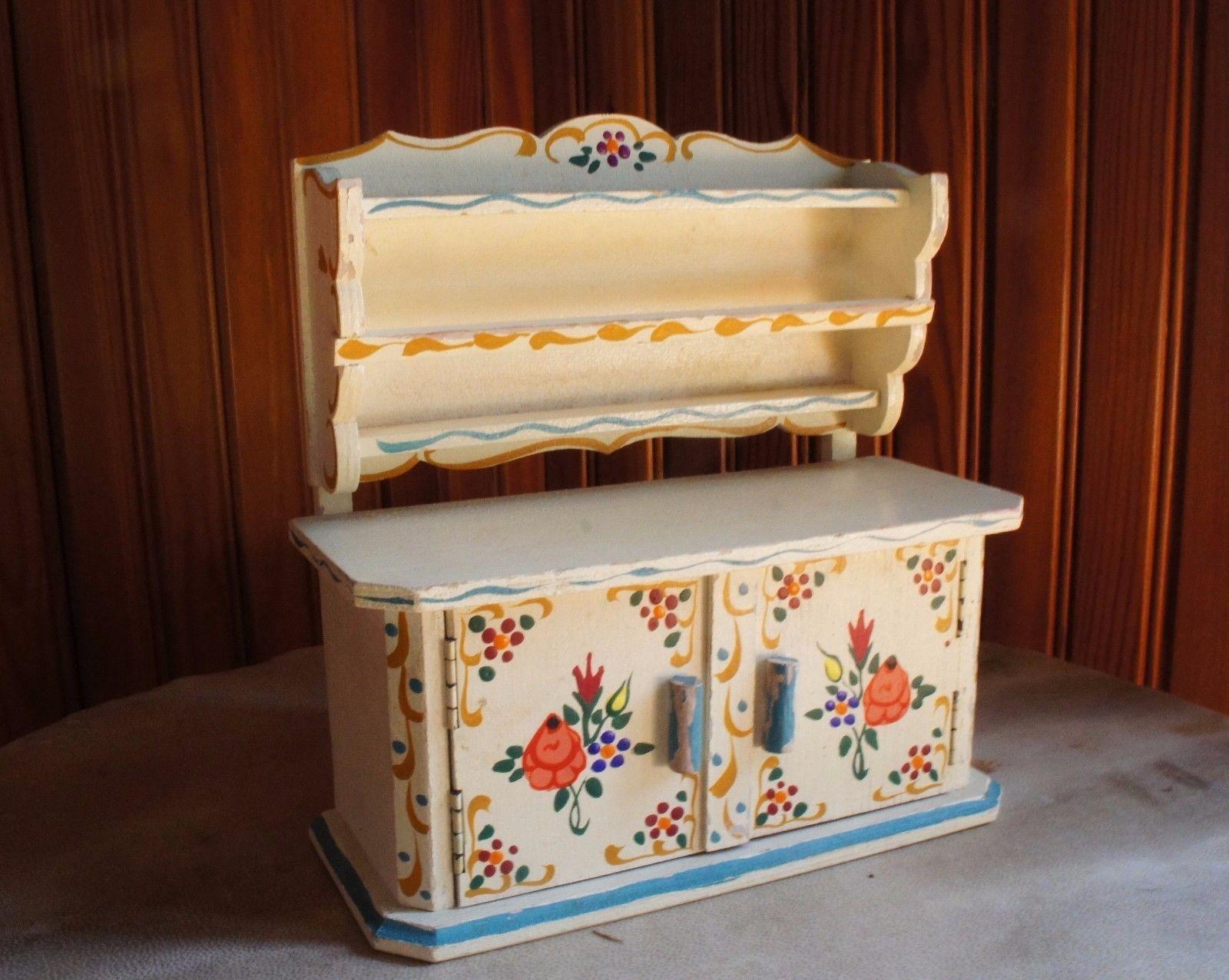 Vintage Dora Kuhn-Kitchen Hutch-doll house kitchen furniture-Hand ...