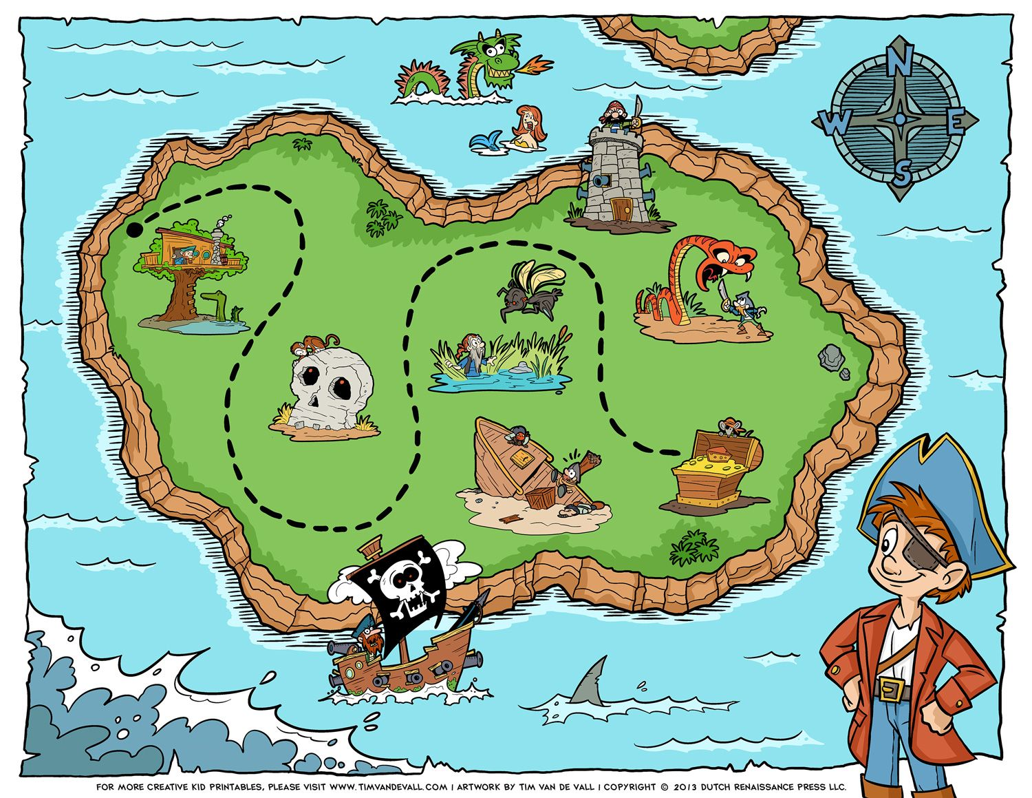 Kids Treasure Map Free Pirate Treasure Maps and Party Favors for a Pirate Birthday  Kids Treasure Map