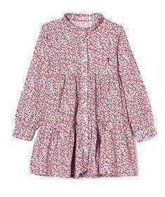 Vestido floral manga comprida