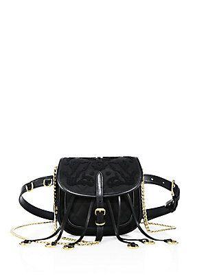 95e6459e06d9 Prada Floral-Embroidered Nylon Belt Bag   Apparel and Accessories ...