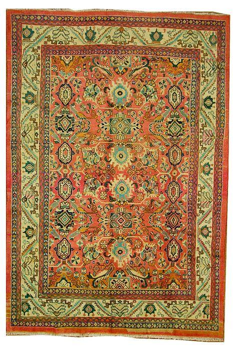 7 3 X 10 5 Pink Farahan Persian Rugs Antique Persian Carpet Rugs Persian Rug