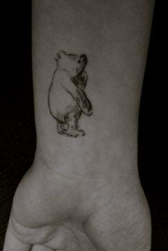 Classic Pooh Tattoo