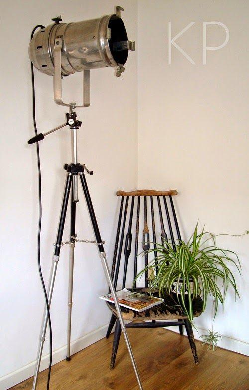 L mpara de pie con foco lamp with focus lampara antigua - Lampara foco cine ...