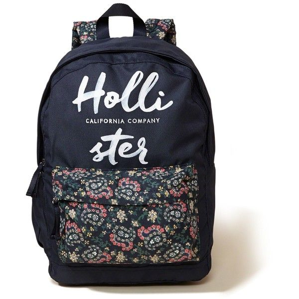 03aca3825f8c Hollister Printed Nylon Backpack ( 20) ❤ liked on Polyvore featuring bags