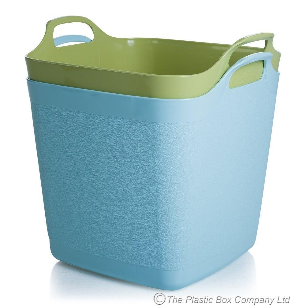 Buy Large Plastic 40 Litre Square Flexi Tub | Organization ...