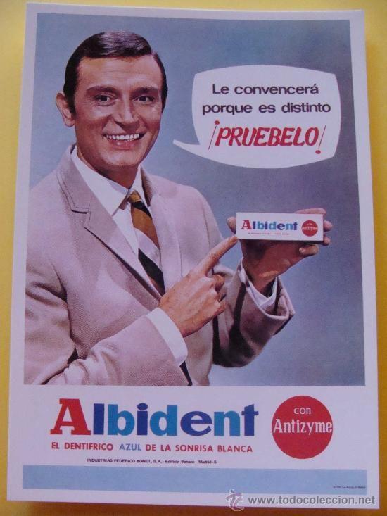 Albident dent frico carteles antig os pinterest - Carteles publicitarios antiguos ...
