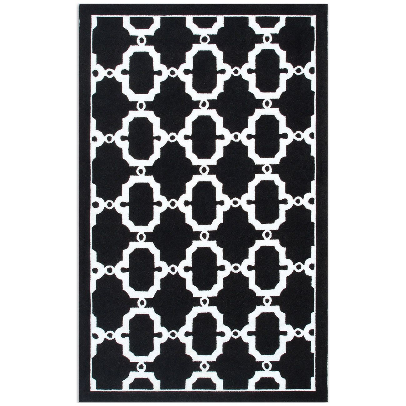 Resort Hyperion Black And White Rug Zinc Door Zincdoor Modern Blackandwhite Decor Design Rugs Geometric Black White Rug Rugs White Rug