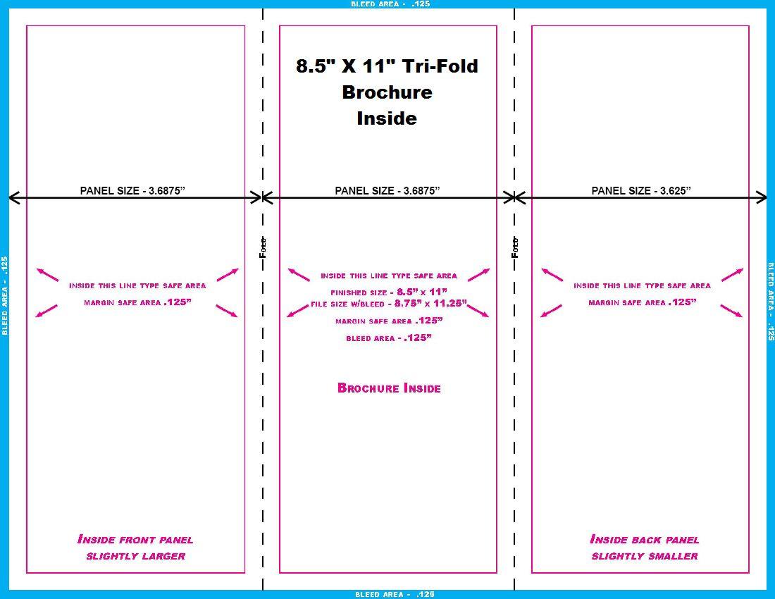 brochure 8 5x11 trifold inside brochures graphic design