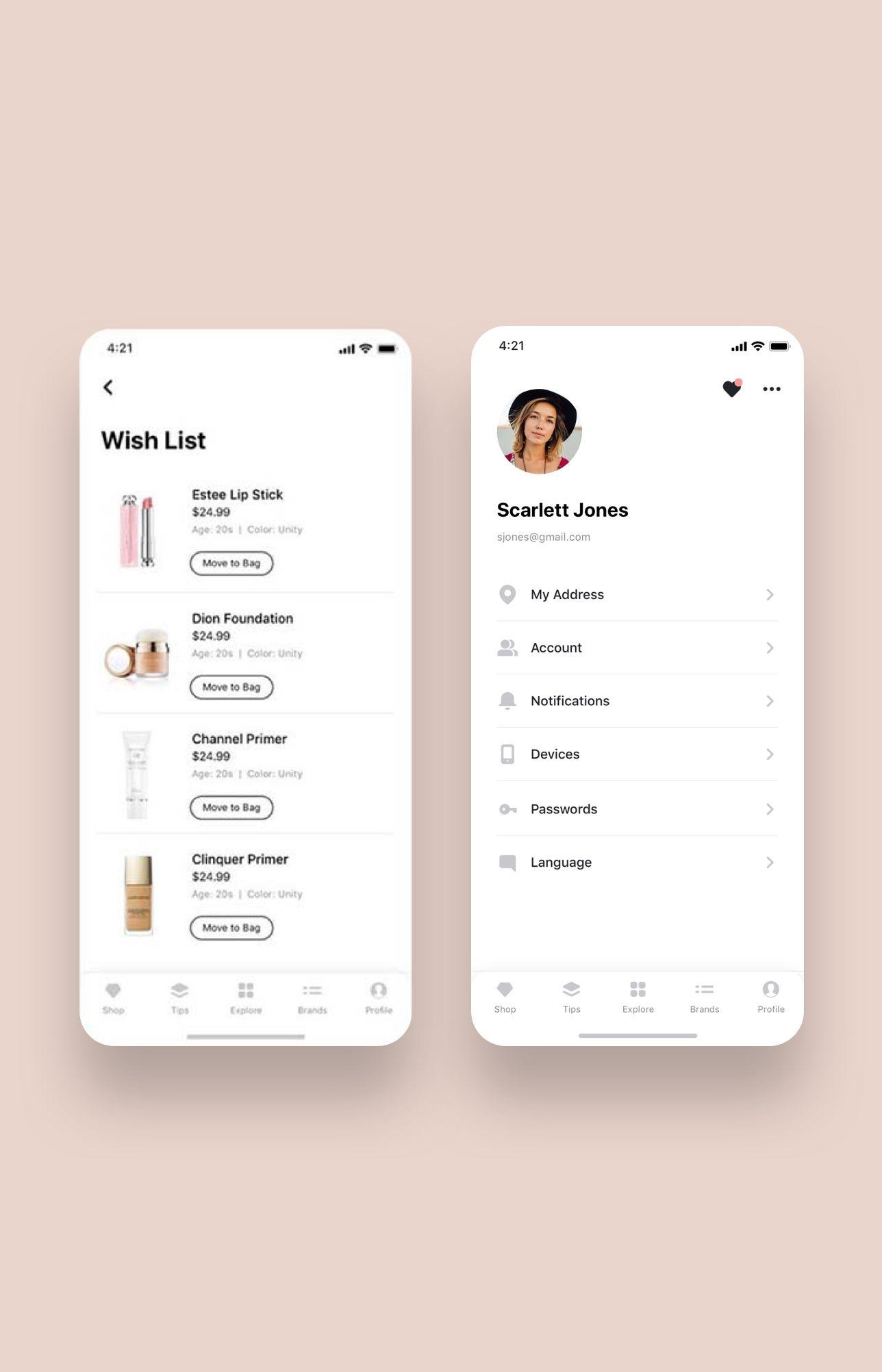 Shopping App UI Kit Bundle — UI Place   UI / UX   App ui, Ui