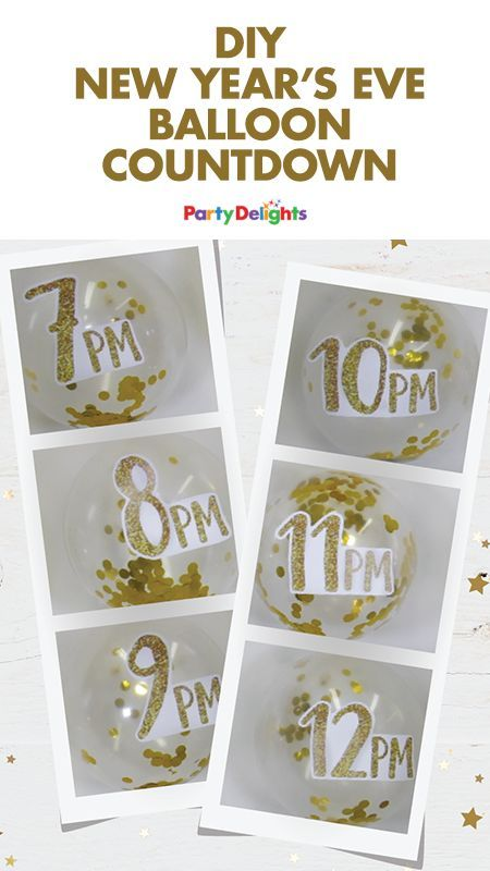 DIY New Year's Eve Balloon Countdown | New year's eve ...