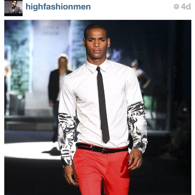 Love this look. Pants by #dsquared2 | Red dress pants, Black