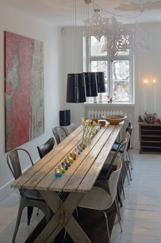 Huset I Julegaten Narrow Dining Tables Small Table Decor