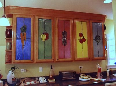 These modern kitchen cabinet doors in a 1920's home ...
