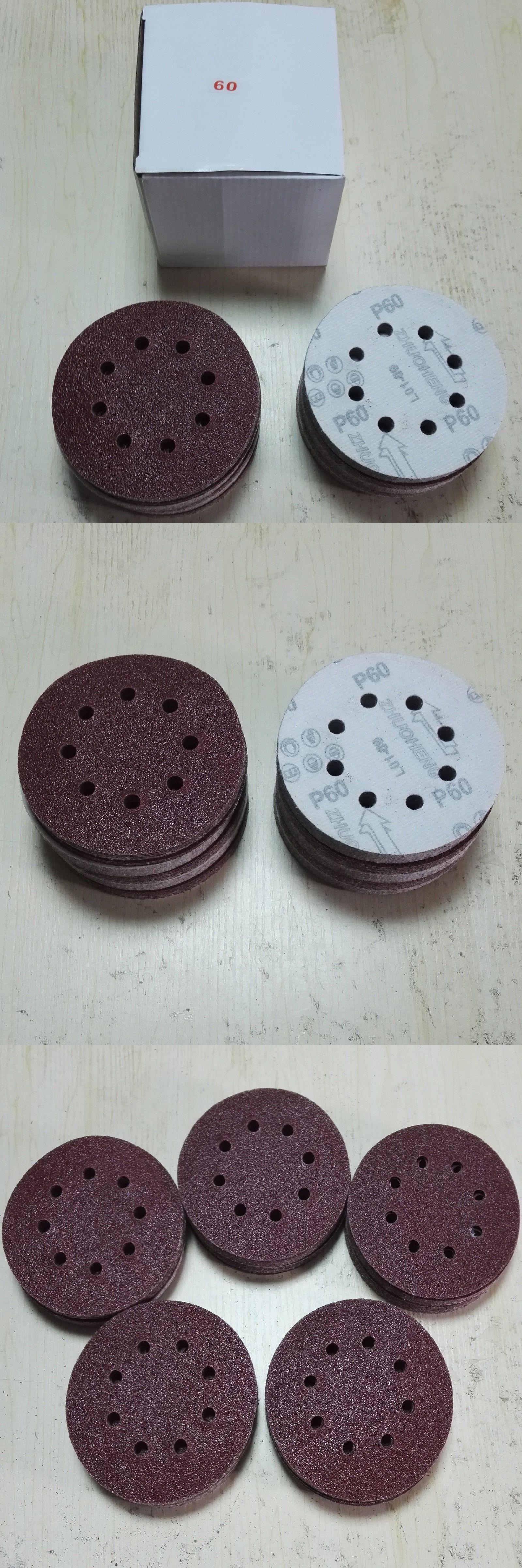 100 pack 5 8 holes 60 grit sanding discs hook loop