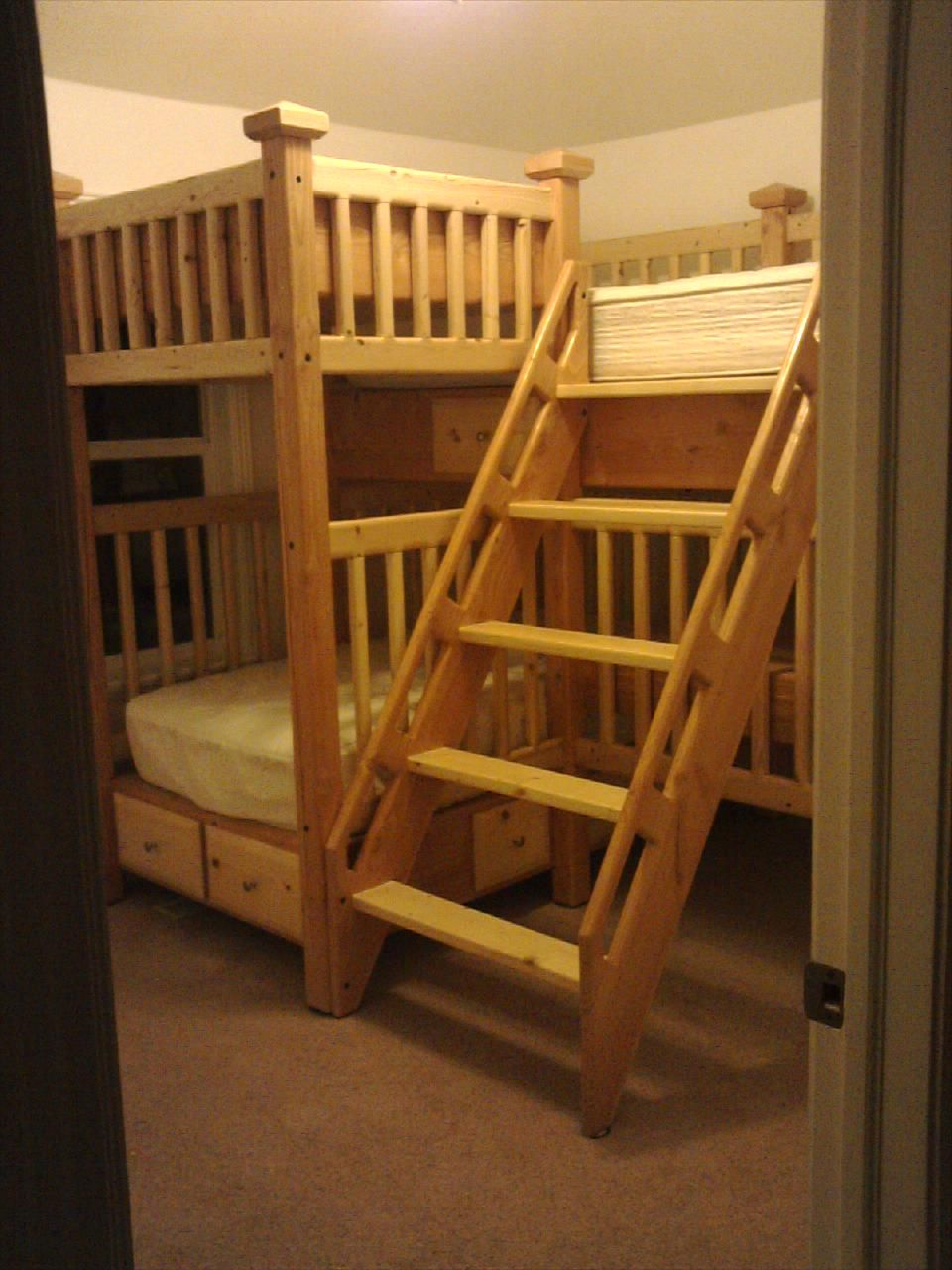 My Carpentry Projects L Shaped Bunk Bed For The Home