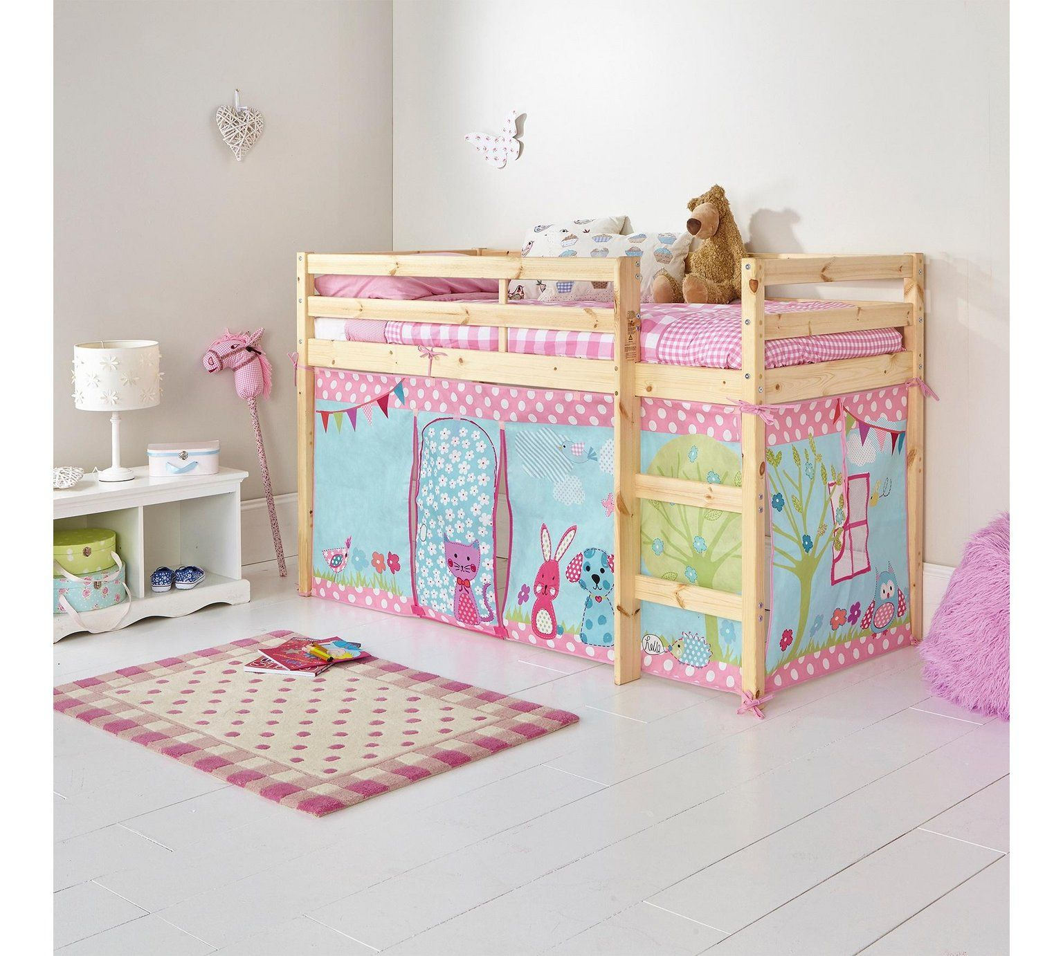 Buy Home Creature Friends Tent For Single Mid Sleeper Bed Frame Kids Beds Argos Mid Sleeper Bed Kid Beds Bed