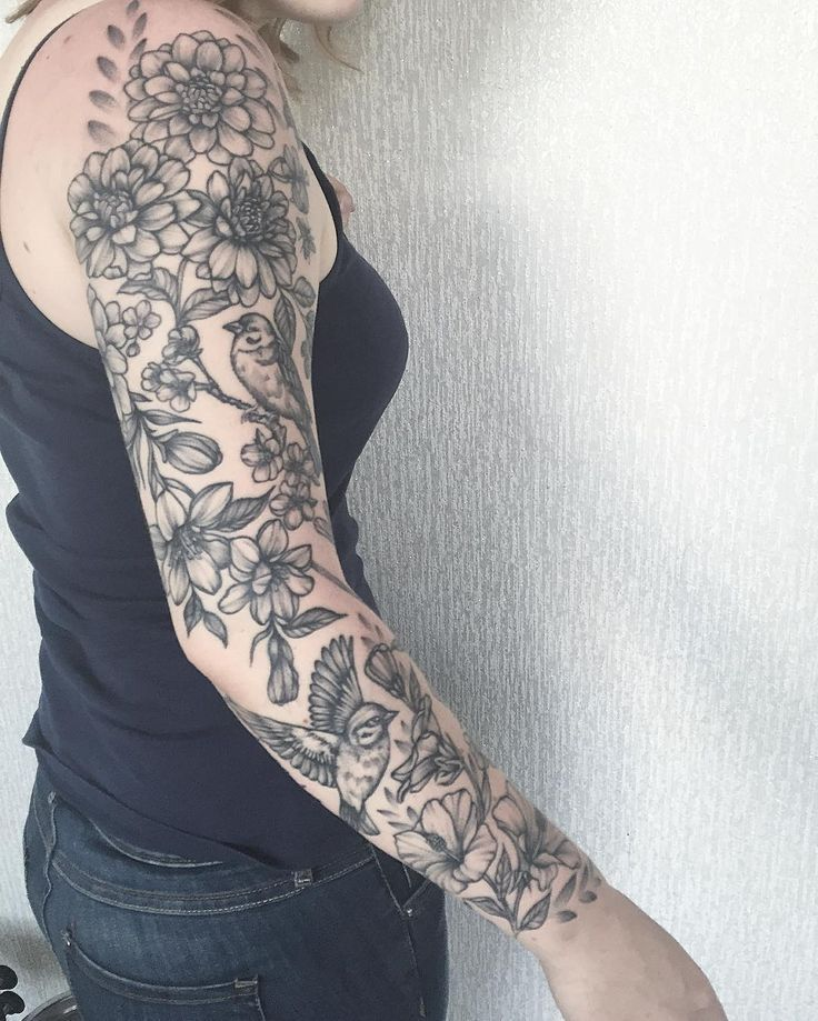 Half Sleeve Tattoos For Women Dotwork