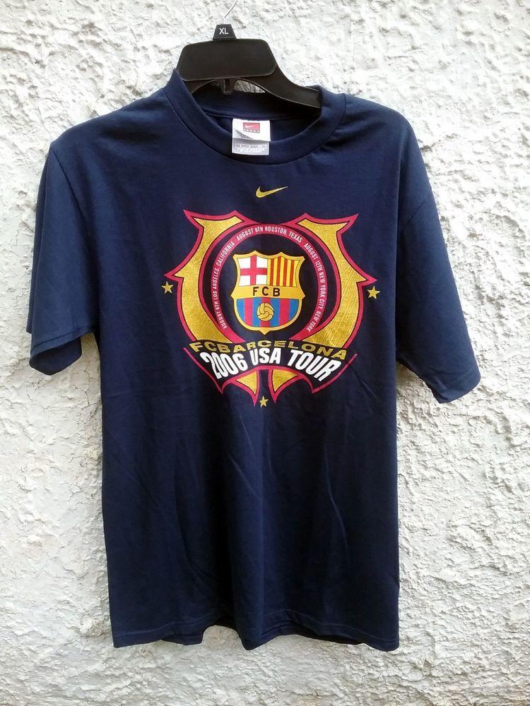 05aaeb978 Nike FC Barcelona 2006 USA Tour Shirt Small  Nike  GraphicTee ...