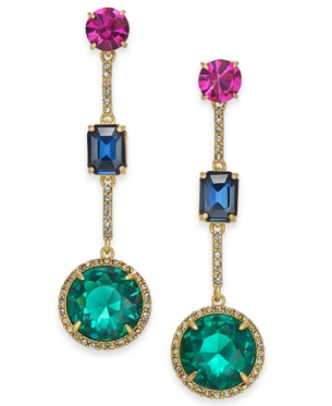 06aba9adf552f Kate Spade Gold-Tone Stone Linear Drop Earrings in 2019 | Products ...