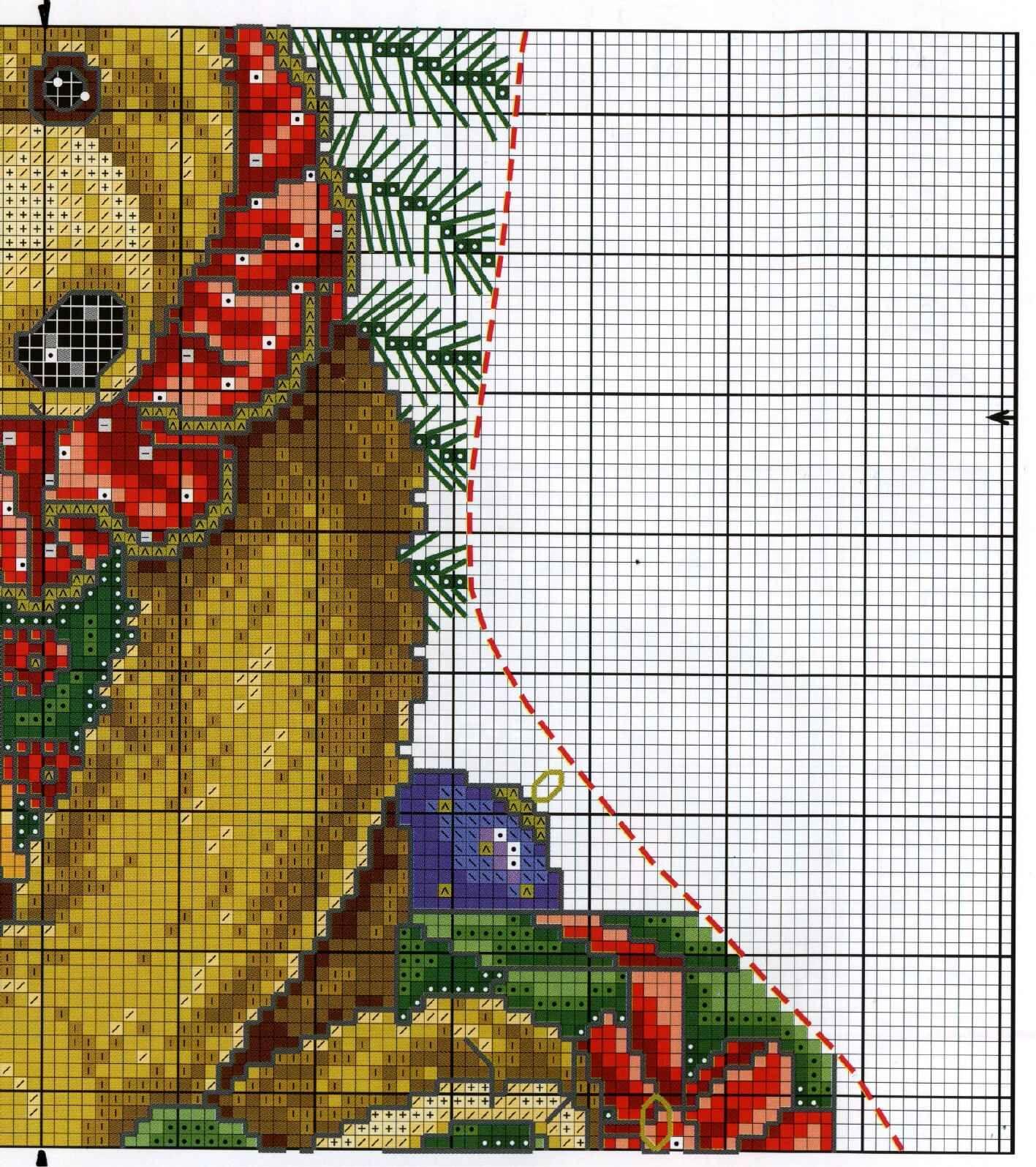 Calza Orso 1d | Natale a punto croce | Pinterest | Calcetín de ...