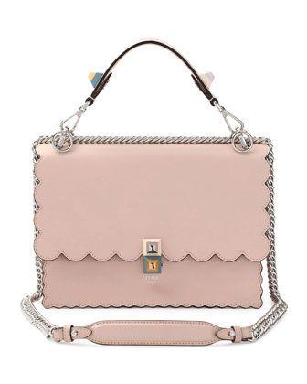 a7b65415c0b4 Kan+I+Scalloped+Leather+Shoulder+Bag