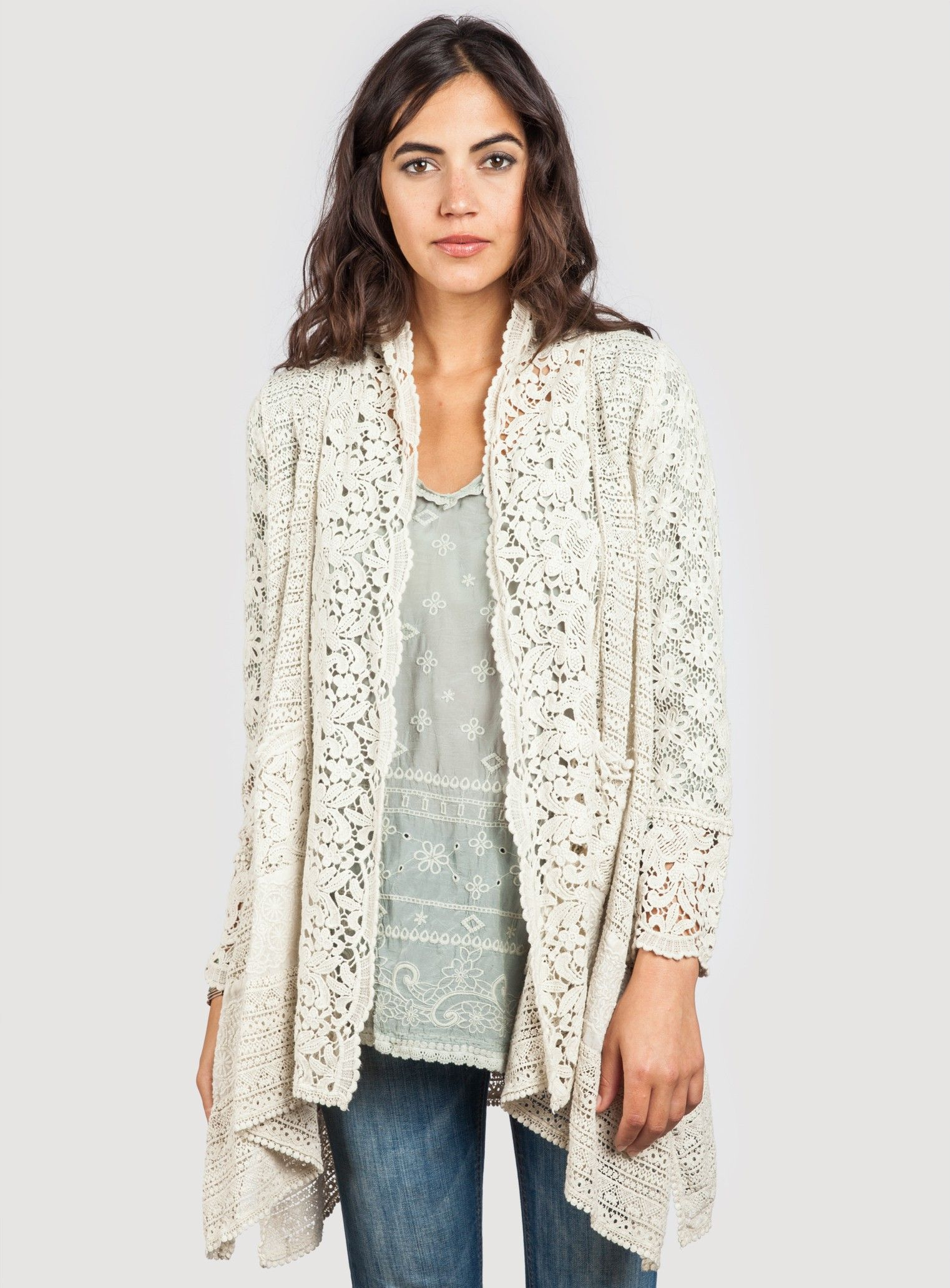 Johnny Was Flower Tiles Crochet Jacket Johnny Was Crochet Jacket Clothes For Women
