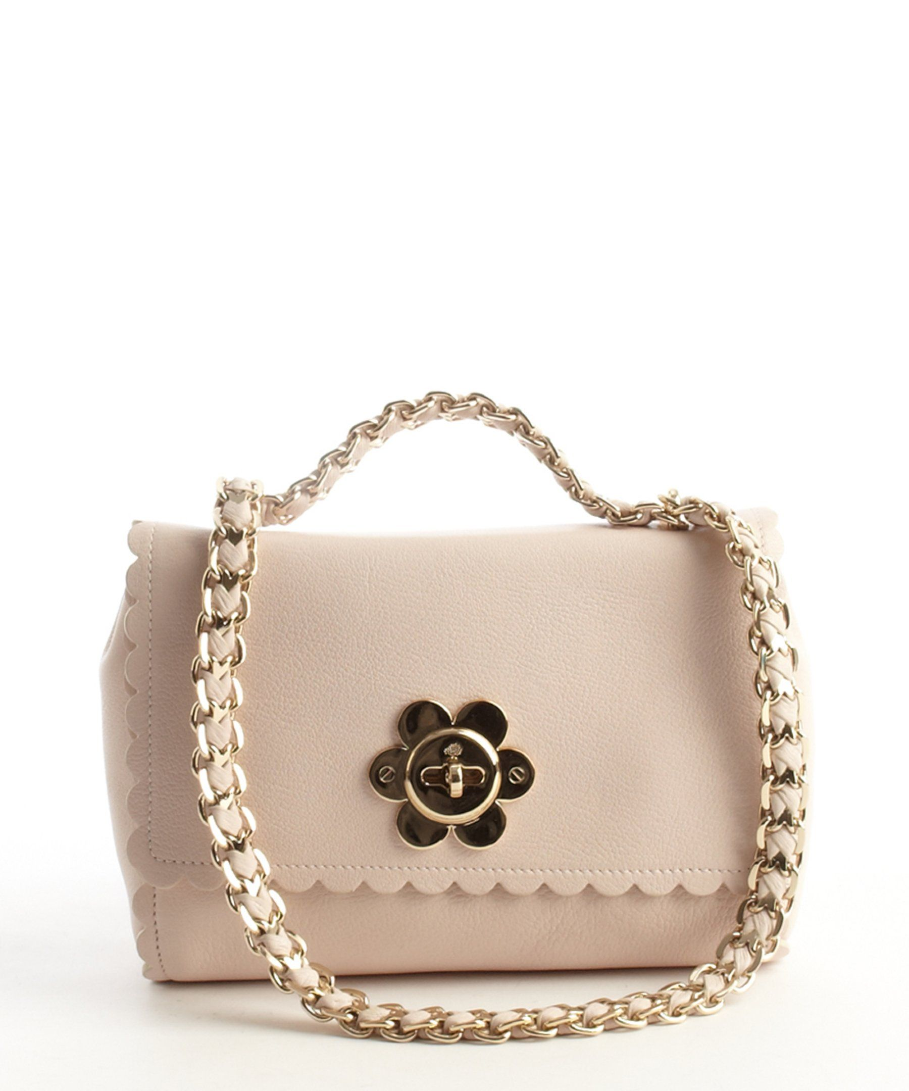 Mulberry light berry leather chainlink 'Lily' shoulder bag | BLUEFLY up to 70% off designer brands