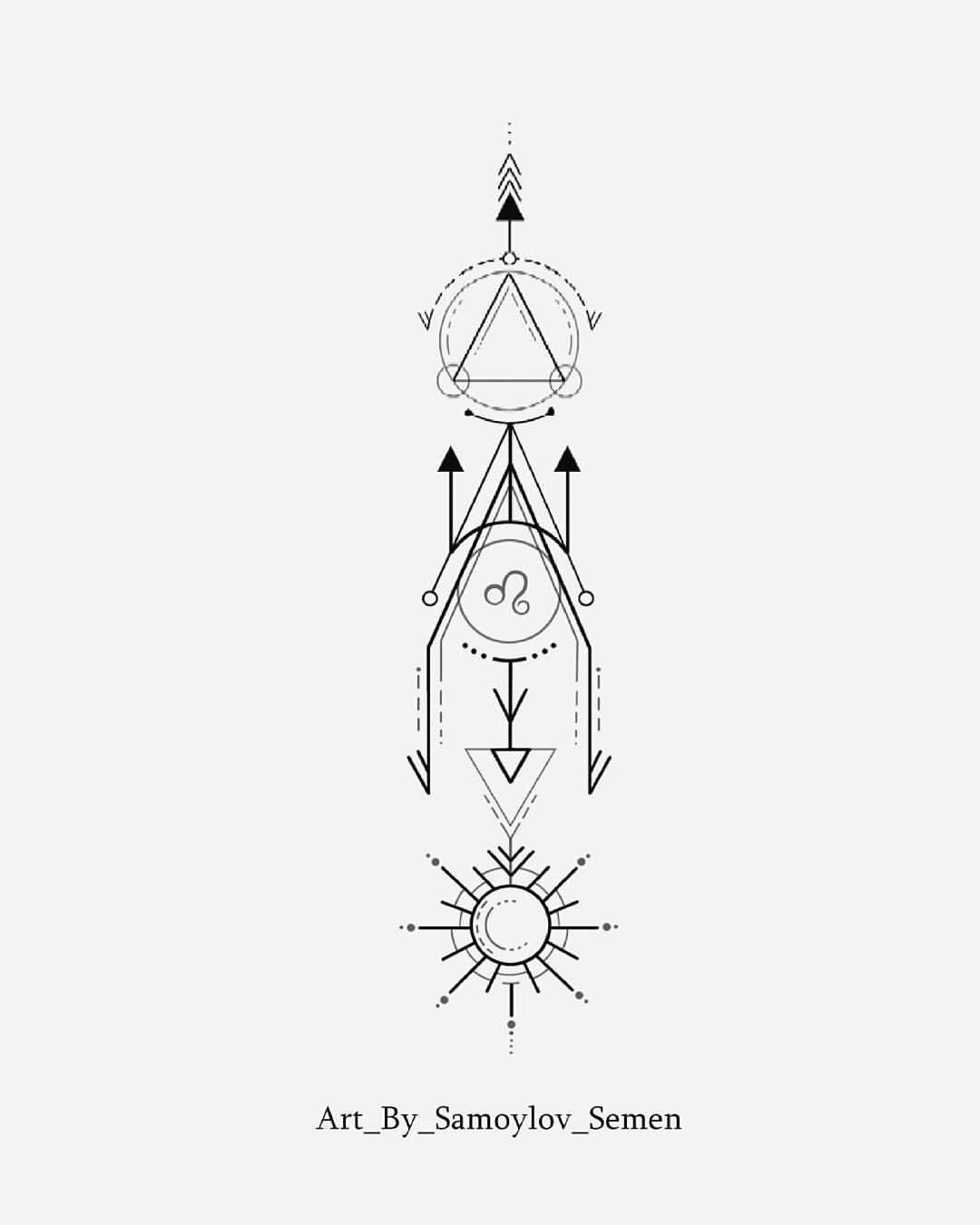 эскиз геометрия два свободный дизайна эскиза со знаком зодиака