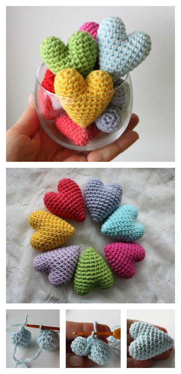 Valentine\'s Day Crochet 3D Heart FREE Patterns | dekorasyon ...