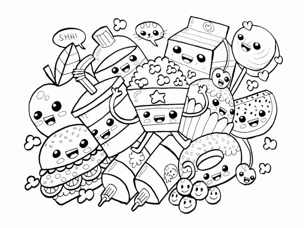Pin By Corrie Burnett On Nail Cute Coloring Pages Cute Doodle Art Food Coloring Pages