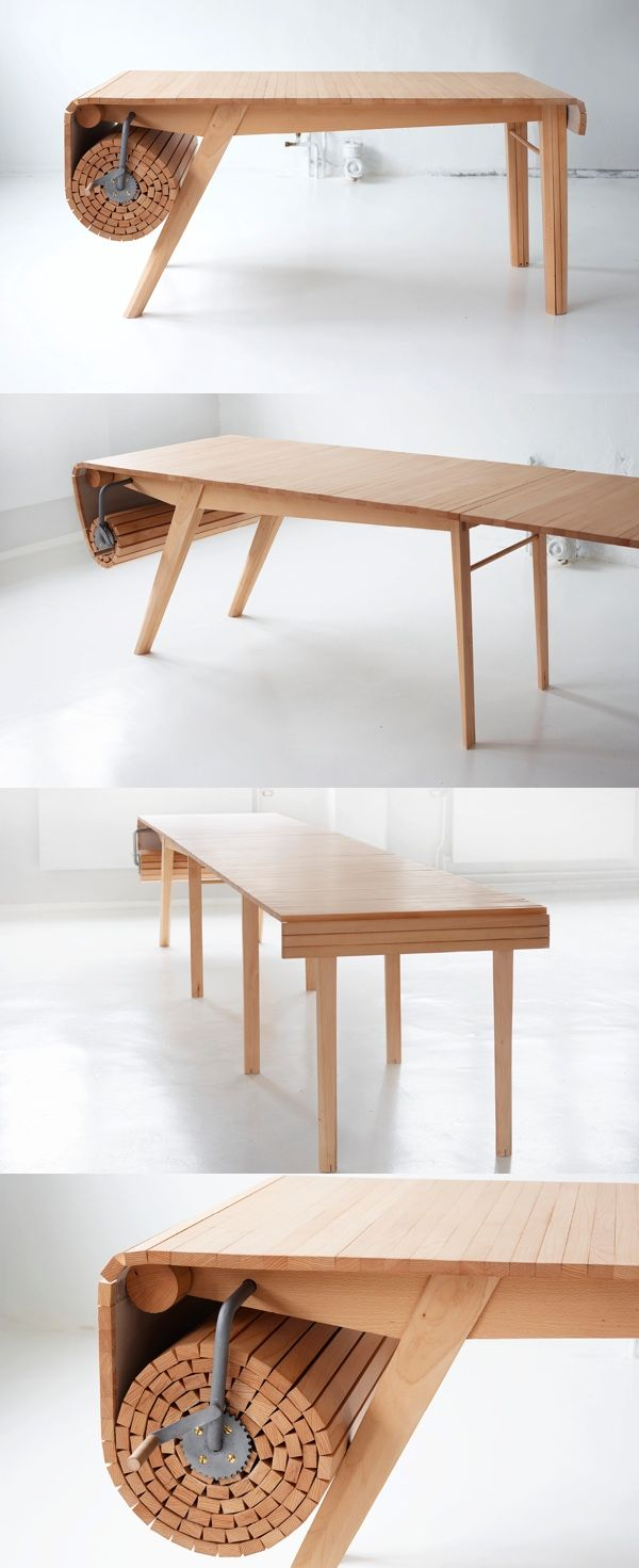roll out dining table furniture designs industrial things to buy pinterest tables en. Black Bedroom Furniture Sets. Home Design Ideas