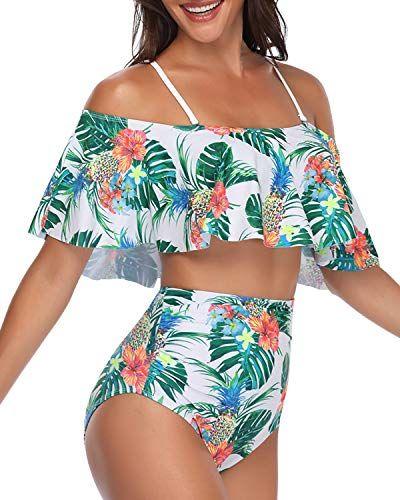 Tempt Me Women Two Pieces High Waisted Bikini Set Ruffle Flounce