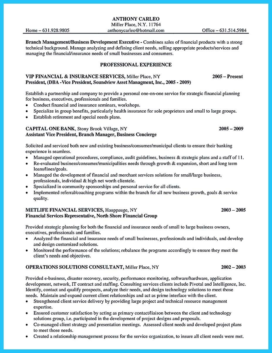 Business Development Manager Resume Cool Starting Successful Career From A Great Bank Manager Resume