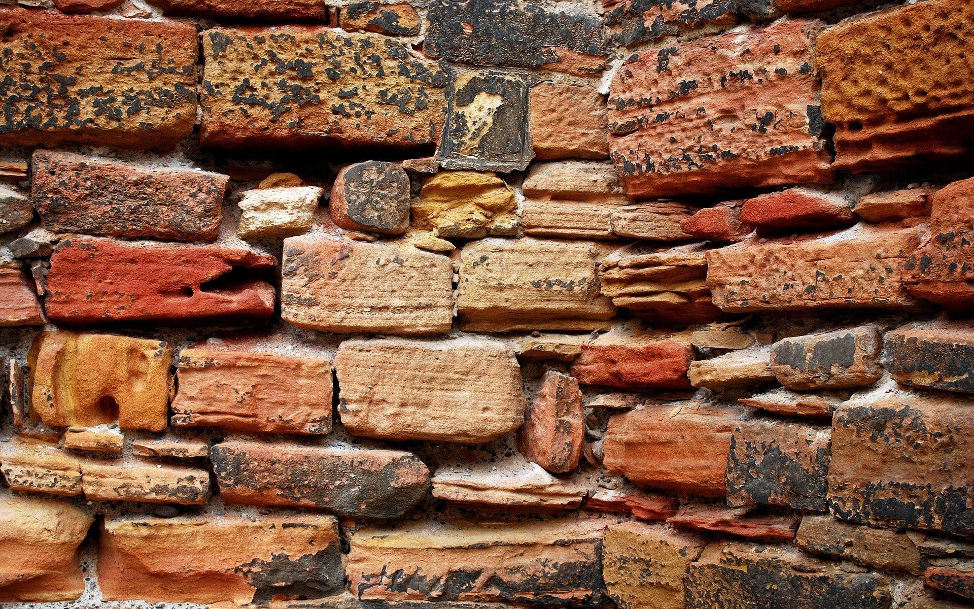 1920x1200 Wallpaper Wall Texture Bricks Color Ghuman