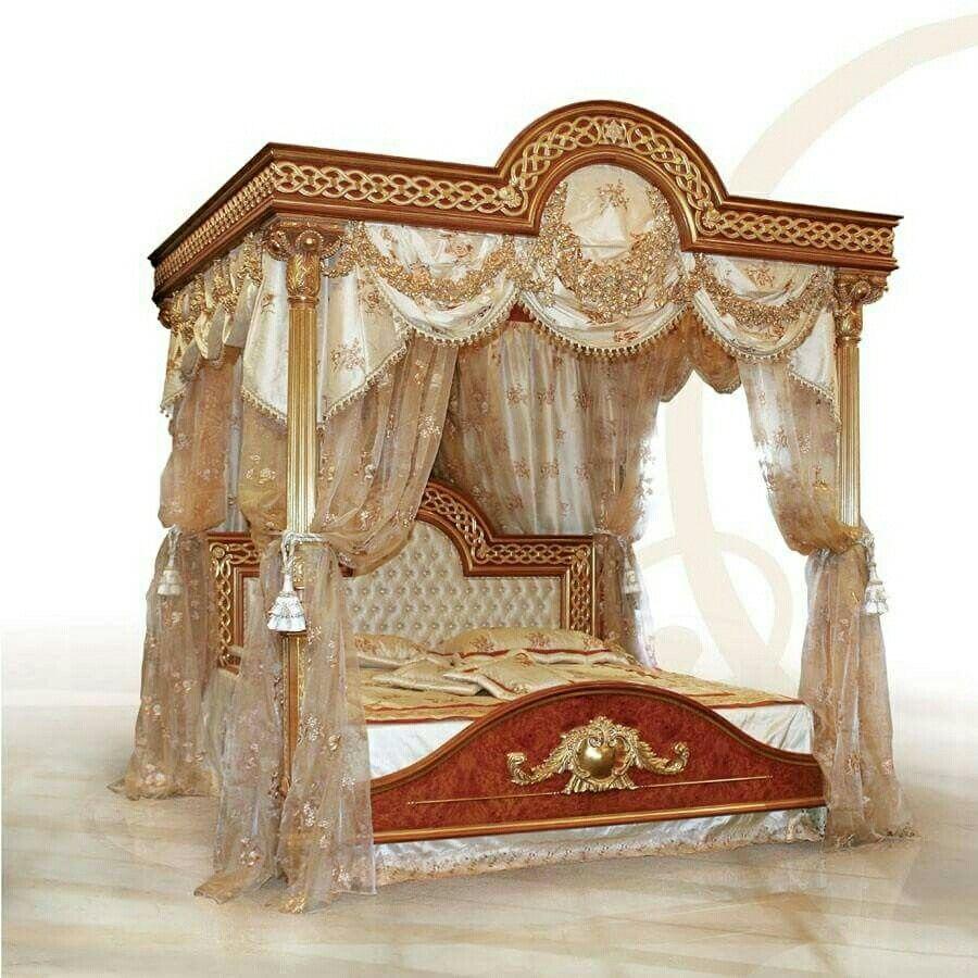 holz himmelbett himmelbetten schutzdcher holz schlafzimmer holzbetten antike mbel schlafzimmer - Gotische Himmelbettvorhnge