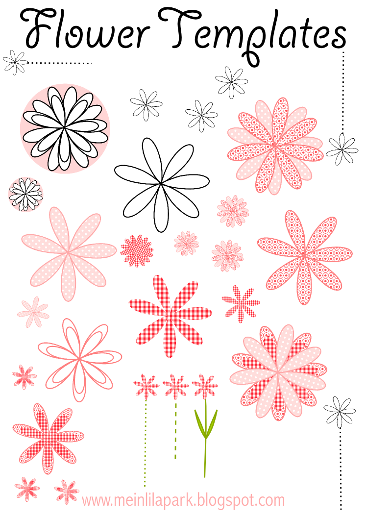 Free Printable Flower Templates For Diy Garlands Cards And