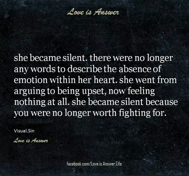 Silence Love Quote: Moving On Quotes : Silence