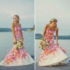 18 colorful wedding dresses for the non traditional bride 18 colorful wedding dresses for the non traditional bride junglespirit Images