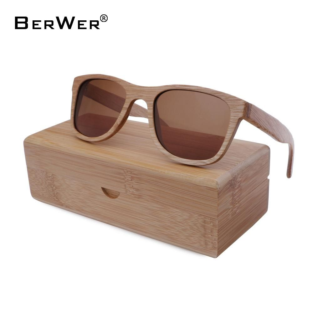 91ce4a984d BerWer Natural Color Full Frame Classic Bamboo Sunglasses with UV400 Lenses  and Wooden Box  UV400  fun  sunglasses  sunshine  travel  bamboo   EcoFriendly ...